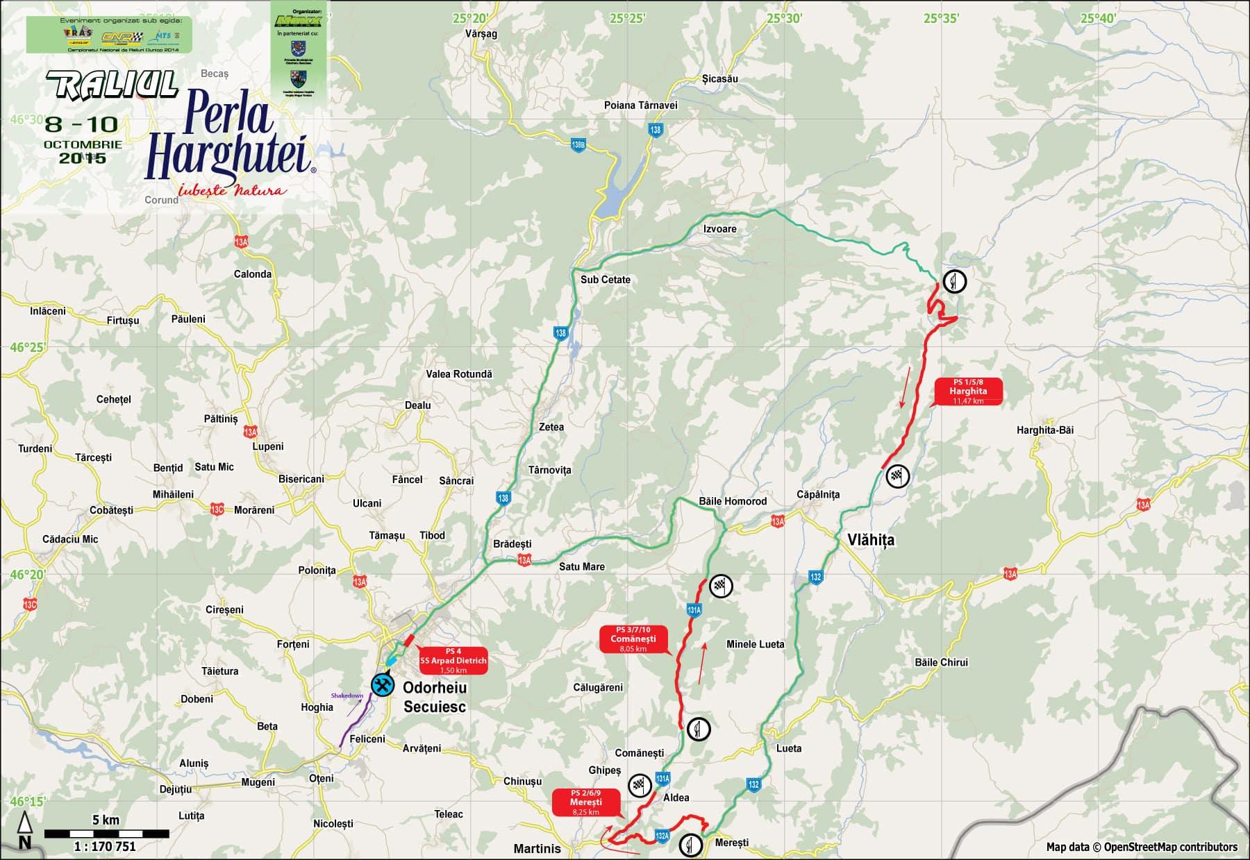 Harta generală - Raliul Harghitei 2015